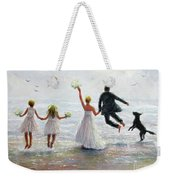 Family Beach Wedding Weekender Tote Bag