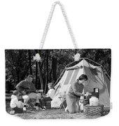Family Camping, C.1970s Weekender Tote Bag
