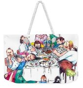 Family Dinner Weekender Tote Bag