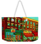 Family Frolic On St.viateur Street Weekender Tote Bag