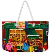 Family  Fun At St. Viateur Bagel Weekender Tote Bag