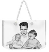 Family In Pointillism Weekender Tote Bag