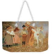 Family Group With Cow Weekender Tote Bag
