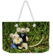 Family Mouse On The Spring Meadow .1. Weekender Tote Bag
