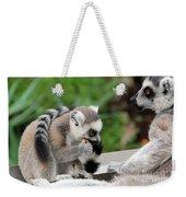 Family Of Lemurs Weekender Tote Bag