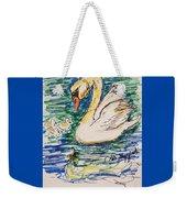 Family Of Swanns  Weekender Tote Bag