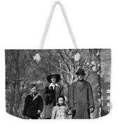 Family Out Walking On A Wintry Day Weekender Tote Bag