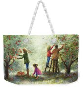 Family Picking Apples Weekender Tote Bag