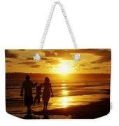 Family Walk On Beach Weekender Tote Bag