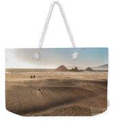 Family Walking On Sand Towards Ocean Weekender Tote Bag