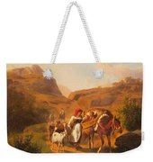 Family With Animals Weekender Tote Bag