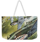 Famous Aircraft And Their Pilots Weekender Tote Bag