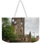 Famous Cathedral Of Manchester City In  Uk Weekender Tote Bag