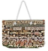 Famous Fish At Pike Place Market Weekender Tote Bag