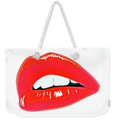 Famous Red Lips Weekender Tote Bag
