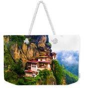 Famous Tigers Nest Monastery Of Bhutan 11 Weekender Tote Bag