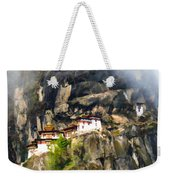 Famous Tigers Nest Monastery Of Bhutan 3 Weekender Tote Bag