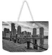 Fan Pier Boston Harbor Bw Weekender Tote Bag