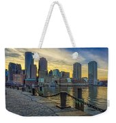 Fan Pier Boston Harbor Weekender Tote Bag
