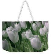 Fanciful Tulips In Green Weekender Tote Bag