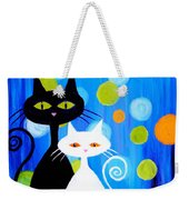 Fancy Cats Weekender Tote Bag