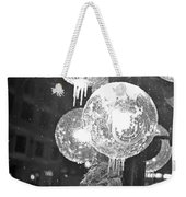 Faneuil Hall Lollypop Light Icicles Boston Ma Black And White Weekender Tote Bag