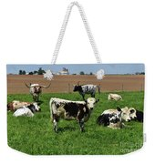 Fantastic Farm On A Spring Day With Cows Weekender Tote Bag
