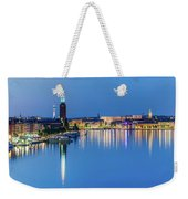 Fantastic Stockholm And Gamla Stan Reflection From A Distant Bridge Weekender Tote Bag