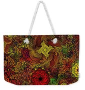 Fantasy Flowers Woodcut Weekender Tote Bag