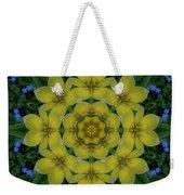 Fantasy Plumeria Decorative Real And Mandala Weekender Tote Bag