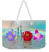Fantasy Stork-flowers-rainbow On Ocean Weekender Tote Bag