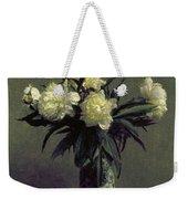 Fantin-latour: Peonies, 1872 Weekender Tote Bag