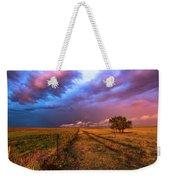 Far And Away - Open Prairie Under Colorful Sky In Oklahoma Panhandle Weekender Tote Bag