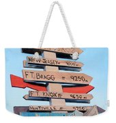 Far From Home Weekender Tote Bag