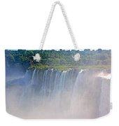 Far Side Of Devil's Throat In Iguazu Falls National Park-argentina   Weekender Tote Bag