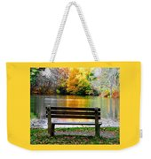 Farewell Autumn Weekender Tote Bag