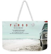 Fargo, This Is A True Story, Art Poster Weekender Tote Bag