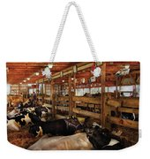 Farm - Cow - Checking Out The Ladies Weekender Tote Bag