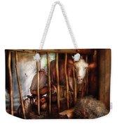Farm - Cow - Milking Mabel Weekender Tote Bag