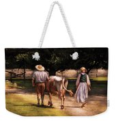 Farm - Cow - Time For Milking  Weekender Tote Bag