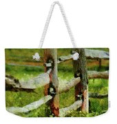 Farm - Fence - The Old Fence Post  Weekender Tote Bag