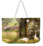 Farm - Geese -  Birds Of A Feather Weekender Tote Bag