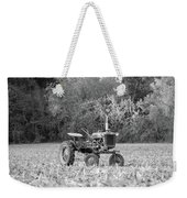 Farm All In  Corn Field Blsck And White Weekender Tote Bag
