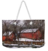 Farm - Barn - Winter In The Country  Weekender Tote Bag by Mike Savad