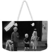 Farm Children And Flag Weekender Tote Bag