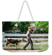 Farm - Cow -the Farmer And The Dell  Weekender Tote Bag
