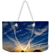Farm Evening Skies Weekender Tote Bag by Rick Morgan