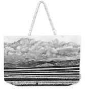 Farm Fields Meet The Rocky Mountains Weekender Tote Bag