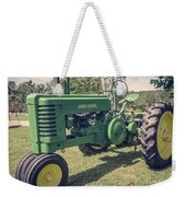 Farm Green Tractor Vintage Style Weekender Tote Bag