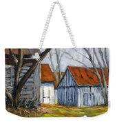 Farm In Berthierville Weekender Tote Bag